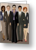 Fashion Greeting Cards - Corporate Greeting Card by Amy De Wolfe