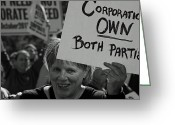 Occupy Greeting Cards - Corporate Parties Greeting Card by Sonya Anthony