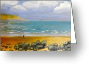 Pamela Meredith Greeting Cards - Corrimal Beach Greeting Card by Pamela  Meredith