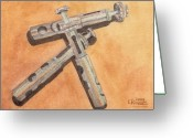 Ken Greeting Cards - Corroded Trumpet Pistons Greeting Card by Ken Powers