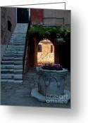 Venetian Architecture Greeting Cards - Corte della Comare Greeting Card by Heiko Koehrer-Wagner