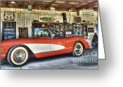 Thelightscene Greeting Cards - Corvette Dreams Greeting Card by Bob Christopher