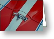 Fifties Buick Greeting Cards - Corvette Greeting Card by Robert Harmon