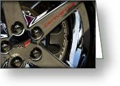 Brake Greeting Cards - Corvette Spokes II Greeting Card by Ricky Barnard