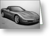Corvette Gift Drawings Greeting Cards - Corvette Greeting Card by Tim Dangaran