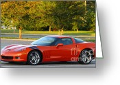 Green Tag Greeting Cards - Corvette Z06 Greeting Card by Barry  Blackburn