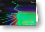 Surge Greeting Cards - Cosmic Beach Greeting Card by Byron Fli Walker