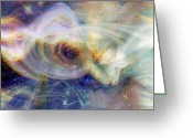 Music Inspired Art Greeting Cards - Cosmic Dust Greeting Card by Linda Sannuti