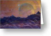 Conseptual Art Greeting Cards - Cosmic Light Series Greeting Card by Len Sodenkamp
