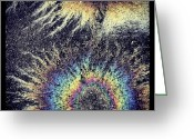 Kg Greeting Cards - Cosmic Oil-B Greeting Card by KG Thienemann