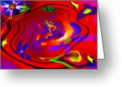 Trippy Greeting Cards - Cosmic Soup Greeting Card by Bill Cannon