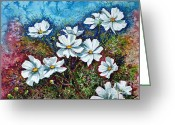 Most Painting Greeting Cards - Cosmos  Greeting Card by Zaira Dzhaubaeva