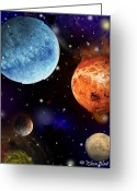 Outerspace Greeting Cards - Cosmos2 Greeting Card by Eileen Blair
