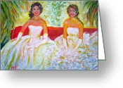 Long Gloves Greeting Cards - Cotillion Greeting Card by Patricia Taylor
