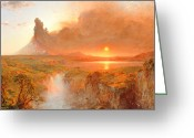 Andes Greeting Cards - Cotopaxi Greeting Card by Frederic Edwin Church