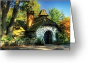 Home Greeting Cards - Cottage - The little cottage Greeting Card by Mike Savad