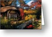 All Tree Greeting Cards - Cottage - Grannies Cottage Greeting Card by Mike Savad