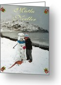 Eftalou Greeting Cards - Cottage Merry Christmas Turkish Greeting Card by Eric Kempson