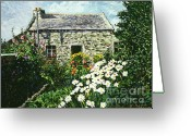Most Greeting Cards - Cottage of Stone Greeting Card by David Lloyd Glover