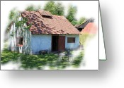 Berks County Greeting Cards - Cottage Greeting Card by Robert Sander