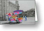 National Drawings Greeting Cards - Cotton Candy at the CNE Greeting Card by Marwan George Khoury