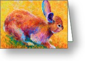 Hare Greeting Cards - Cottontail II Greeting Card by Marion Rose