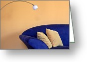 Apartment Greeting Cards - Couch Greeting Card by Joana Kruse