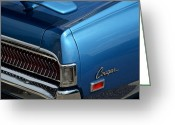 Blue Buick Greeting Cards - Cougar Greeting Card by Robert Harmon