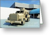 Military Vehicle Greeting Cards - Cougar Greeting Card by Ron Bissett