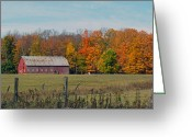 Christine Hafeman Greeting Cards - Country Barn Greeting Card by Christine Hafeman
