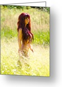 \\\\hair Color\\\\ Greeting Cards - Country Beauty Greeting Card by David  Naman