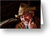 Cowboy Hat Photo Greeting Cards - Country Charm Greeting Card by Ron  McGinnis