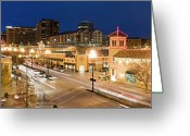 Kansas City Missouri Greeting Cards - Country Club Plaza At Dusk Greeting Card by Chris Pritchard