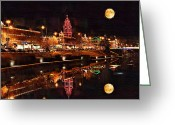 Club Greeting Cards - Country Club Plaza Lights Kansas City Missouri Greeting Card by Joseph Ventura
