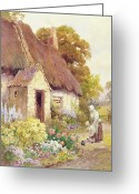 English Garden And House Greeting Cards - Country Cottage Greeting Card by Joshua Fisher