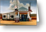 Gas Stations Greeting Cards - Country Crossroads Greeting Card by Doug Strickland