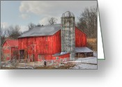 Silo Greeting Cards - Country Feeling Greeting Card by Sharon Batdorf