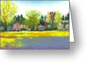 House Pastels Greeting Cards - Country Garden Greeting Card by David Patterson