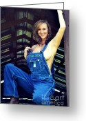 Overalls Greeting Cards - Country Girl Greeting Card by Love Photography