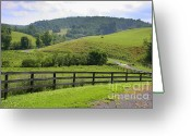 Country Lanes Photo Greeting Cards - Country Lane Greeting Card by Julie Lueders