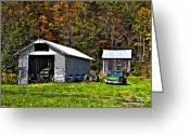Shed Greeting Cards - Country Life Greeting Card by Steve Harrington