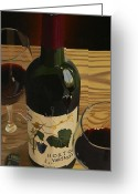 Wine Bottle Prints Greeting Cards - Country Livin Greeting Card by Brien Cole