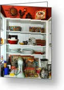 Appliances Greeting Cards - Country Pantry Greeting Card by Edward Sobuta
