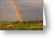 Barn Images Greeting Cards - Country Rainbow Greeting Card by James Bo Insogna