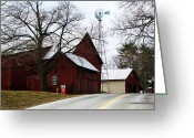 Old Country Roads Greeting Cards - Country Roads Greeting Card by Paulette  Thomas
