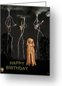 Motown Scream Tour Greeting Cards - Country Scream happy birthday Greeting Card by Eric Kempson