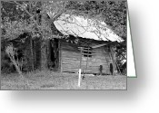 Shed Digital Art Greeting Cards - Country Shed Greeting Card by Suzanne  McClain