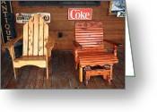 Americana Greeting Cards - Country Store Greeting Card by Frank Romeo
