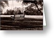 Duotone Greeting Cards - Country Swing Greeting Card by Scott Pellegrin