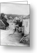 Old Country Roads Greeting Cards - Country Village - Ireland - c 1887 Greeting Card by International  Images